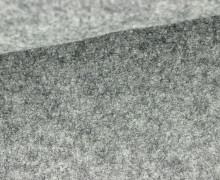 Wolle - Walkstoff - Mittelgrau Meliert