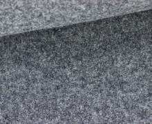 Wolle - Walkstoff - Blaugrau Meliert