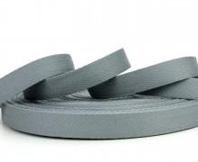 1 Meter Ripsband - Köperband - 14mm - Grau