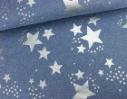 Sweat - Glitzer - Sterne - Blau Meliert