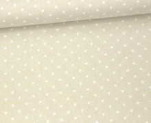 Javanaise - Blusenstoff - Punkte - 2mm -  Grau