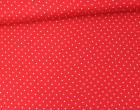 Javanaise - Blusenstoff - Punkte - 2mm -  Rot