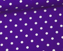 Javanaise - Blusenstoff - Punkte - 6mm -  Lila