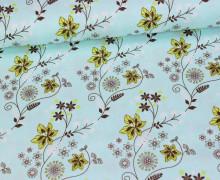 Stoff - Blumenranken - Tante Ema - Mint