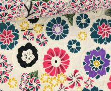 Stoff - Spitze - Blumen - Kreisel - Springtime - Transparent - Pink