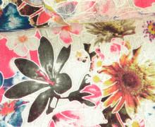 Stoff - Spitze - Blumen - Vintage - Springtime - Transparent - Pink