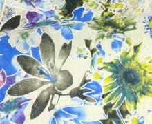 Stoff - Spitze - Blumen - Vintage - Springtime - Transparent - Blau