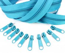 2m Endlos Reißverschluss *S+10 Zipper Türkis (207)