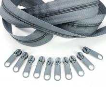 2m Endlosreißverschluss *S+10 Zipper Grau (319)