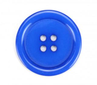 1 Knopf - Plastikknopf - 34mm - Harburg - Blau