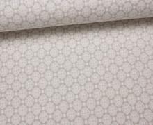 Fashionstoff - Kleine Quadrate - Hellbeige