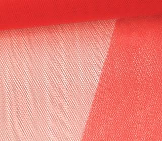 Tüllstoff - Nylon - 140 cm - Rot