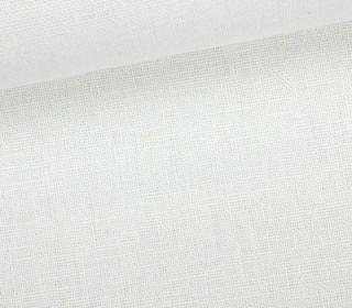 Viskose Leinen - Weiß - Uni - Leinenstoff