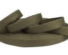1 Meter Ripsband - Köperband - 14mm - Braun