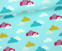 Jersey - Organic Cotton - Süße Wolken - Clouds - Hellblau