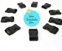 10 Steckschnallen - 20mm - Kunststoff