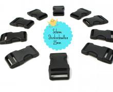 10 Steckschnallen - 25mm - Kunststoff