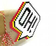 1 Bügelbild - Oh! - 72ppi - Sprechblase - Hamburger Liebe - Aufbügler - Pink