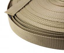1 Meter Gurtband - Dunkelbeige (308) - 25mm