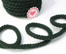 1m Kordel - Hoodiekordel - Gedreht - Uni - 12mm - Tannengrün