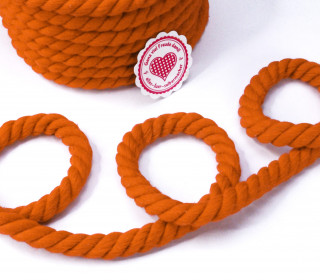 1m Kordel - Hoodiekordel - Gedreht - Uni - 12mm - Orange