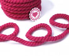 1m Kordel - Hoodiekordel - Gedreht - Uni - 12mm - Pink