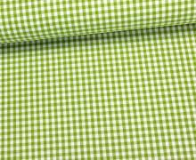 Baumwollstoff - Mini Karos - 150cm - Grün/Weiß