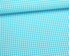 Baumwollstoff - Mini Karos - 150cm - Himmelblau/Weiß