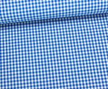 Baumwollstoff - Mini Karos - 150cm - Blau/Weiß