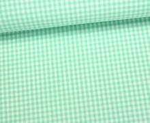 Baumwollstoff - Mini Karos - 150cm - Mintgrün/Weiß