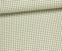Baumwollstoff - Mini Karos - 150cm - Sand/Weiß