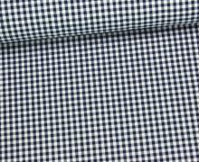 Baumwollstoff - Mini Karos - 150cm - Dunkelblau/Weiß