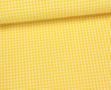 Baumwollstoff - Mini Karos - 150cm - Gelb/Weiß
