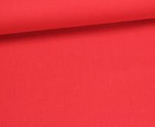 Baumwolle - Webware - Uni - 150cm - Rot