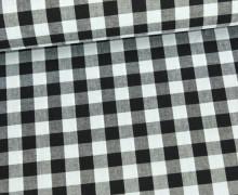 Baumwollstoff - Kariert - 150cm - Schwarz/Weiß