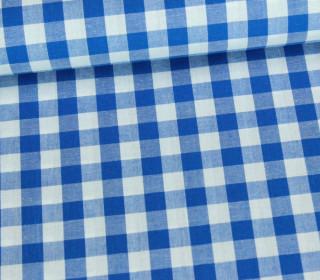 Baumwollstoff - Kariert - 150cm - Blau/Weiß