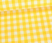 Baumwollstoff - Kariert - 150cm - Gelb/Weiß