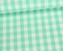 Baumwollstoff - Kariert - 150cm - Mintgrün/Weiß