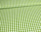 Baumwollstoff - Kariert - 150cm - Grün/Weiß
