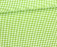 Baumwolle - Vichy - Mini Karos - 140cm - Grün/Weiß