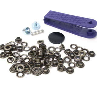 40 Ösen mit Scheiben - Eyelets - Bronze - 5mm