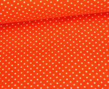 Cord - Babycord - Kleine Punkte - Orange