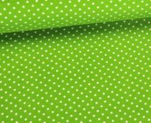 Cord - Babycord - Kleine Punkte - Grasgrün