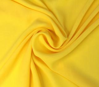 Feiner Chiffon - Kleiderstoff - Uni - Gelb