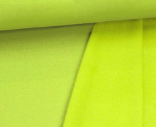Kuschelsweat - Uni - 160cm - Gelbgrün