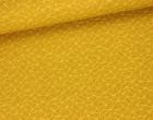 Dekostoff - Feste Baumwolle - Linien - Dreiecke - Grafisch - Dreiecke - Senfgelb