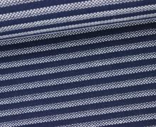Feste Baumwolle - Streifen - Stripes - Dunkelblau/Weiß
