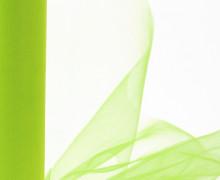 3 Meter Tüll - Weich - 15cm breit - Leicht elastisch - Apfelgrün