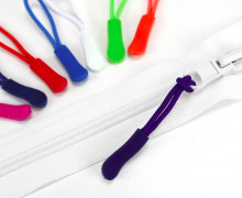 1 Zipper Schlaufe - Reißverschluss Anhänger - Violett