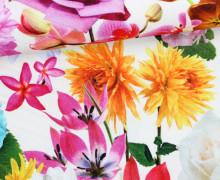 Feste Baumwolle - Blumen - Flowers - Weiß